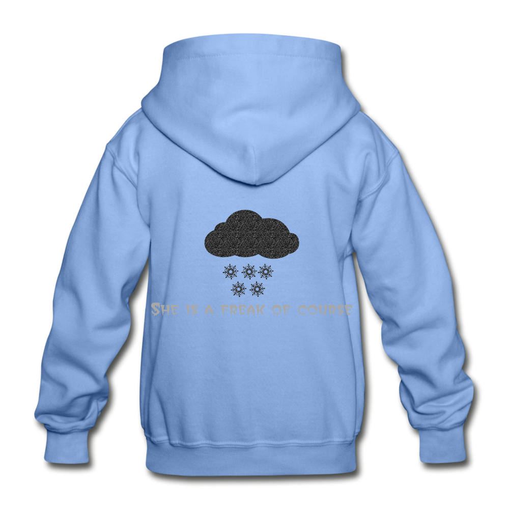 Cold Winter Heavy Blend Youth Hoodie - carolina blue