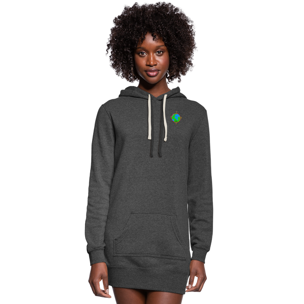 CC27777 Women's Hoodie Dress - heather black