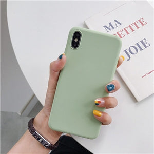 Luxury Soft Back Matte Color Cover per iPhone 7 plus 8 6 6s X XS max XR 5 5s SE Case