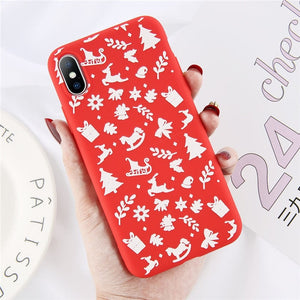 Christmas Cover per iPhone 7 XR 11 Pro / 6 6s 8 Plus X XS Max