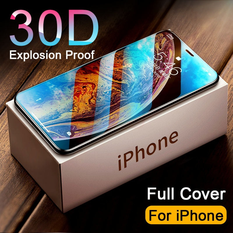 Pellicola in vetro temprato FULL COVER CURVED per iphone 11 PRO MAX Screen 11 X XR XS MAX