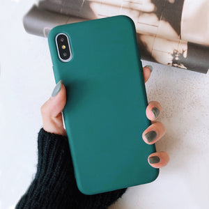 Solid Color Cover per iphone XR X XS Max 6 6S 7 8 Plus 11 11Pro Max