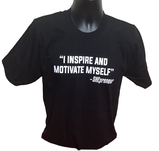 I Inspire and Motivate Myself-SHEpreneur BLACK Tee at Invest As A Team