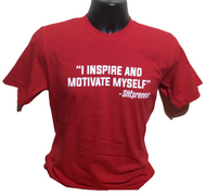 I Inspire and Motivate Myself-SHEpreneur RED Tee at Invest As A Team