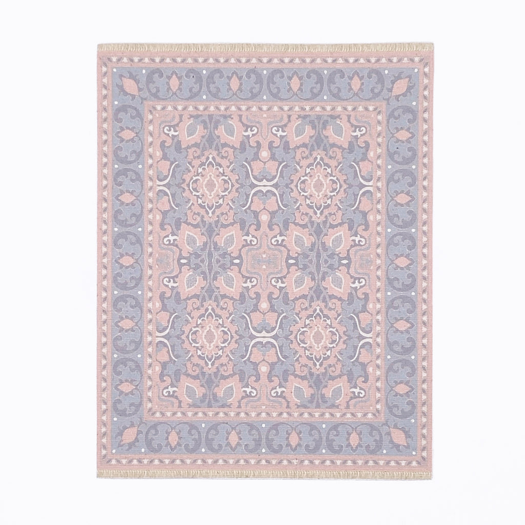 Audrey Dollhouse Rug in Pink and Lavender - Life In A Dollhouse