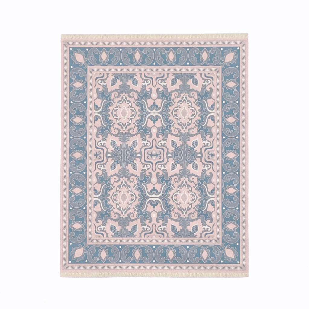 Audrey Dollhouse Rug in Pink and Blue - Life In A Dollhouse