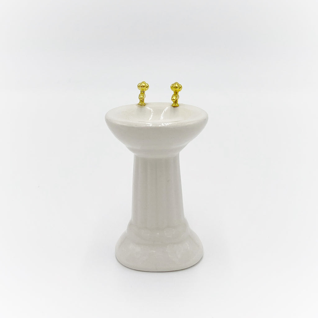 Pedestal Sink For Dollhouse - Life In A Dollhouse
