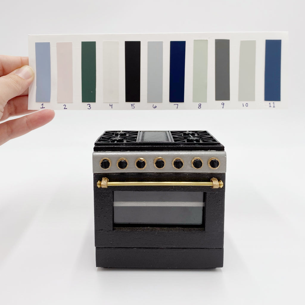 Custom 3'' Dollhouse Range Oven - 1:12 scale by Life In A Dollhouse - Life In A Dollhouse