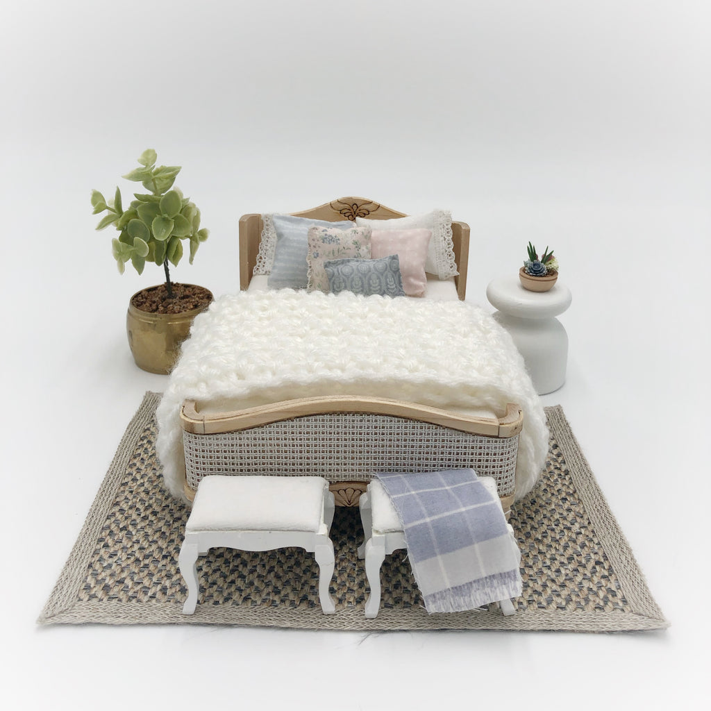 Double French Bed For Dollhouse