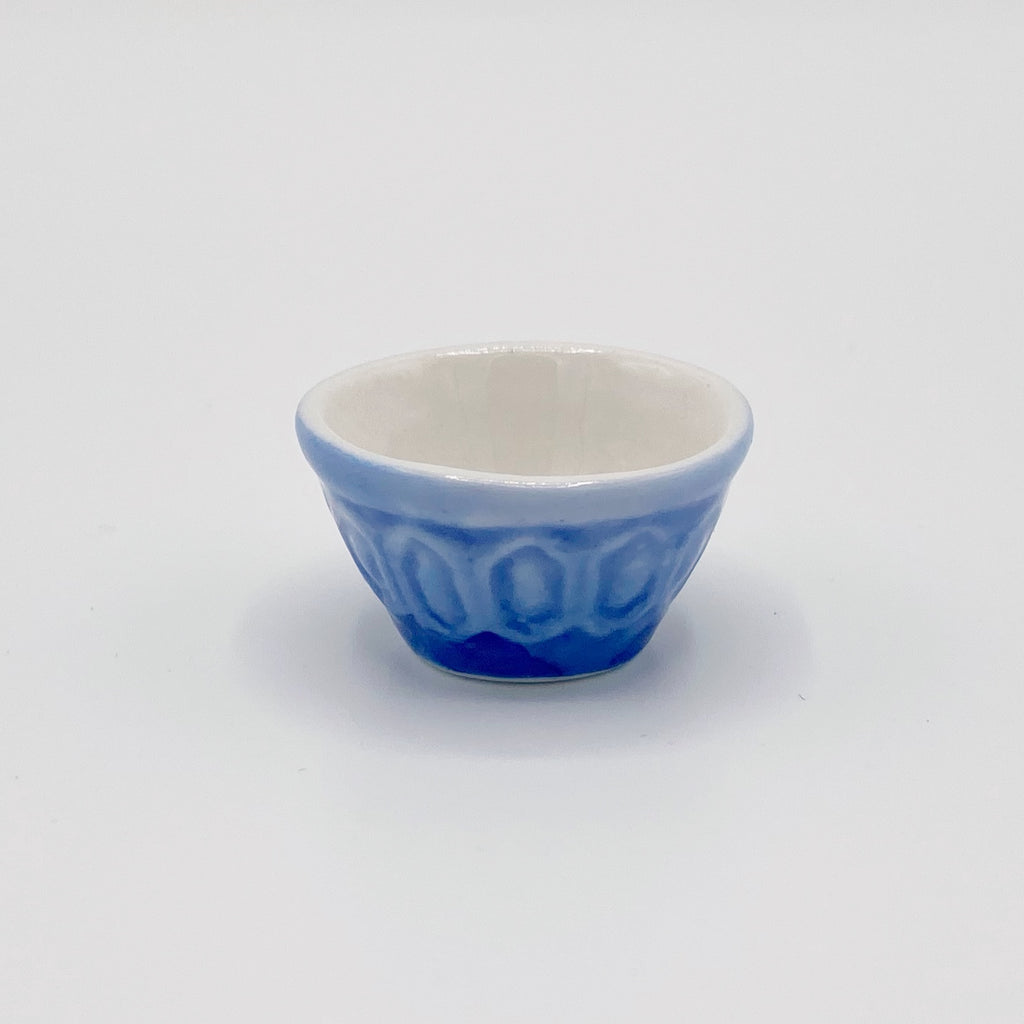 Blue Mixing Bowl For Dollhouse - Life In A Dollhouse