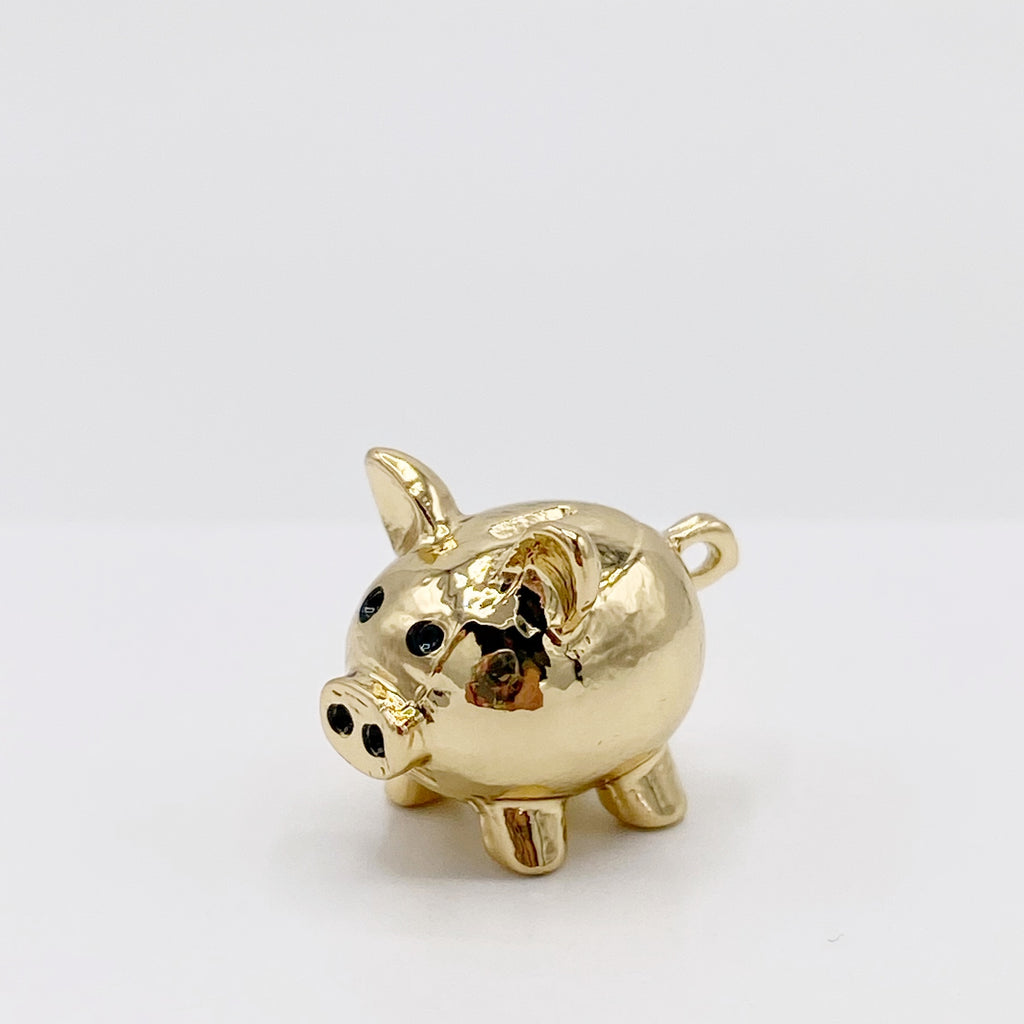 Gold Piggy Bank For Dollhouse - Life In A Dollhouse