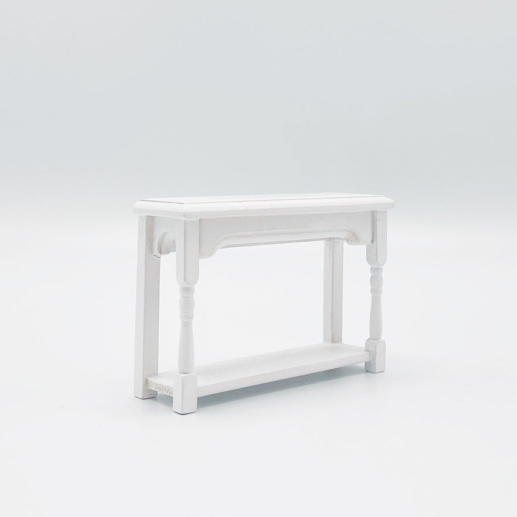Hall Table For Dollhouse in White - Life In A Dollhouse