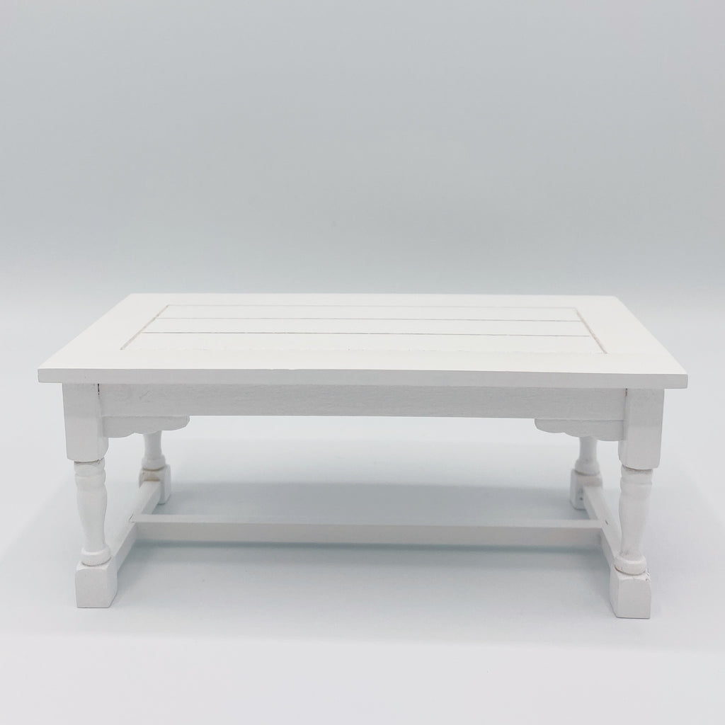Dining Table For Dollhouse in White - Life In A Dollhouse