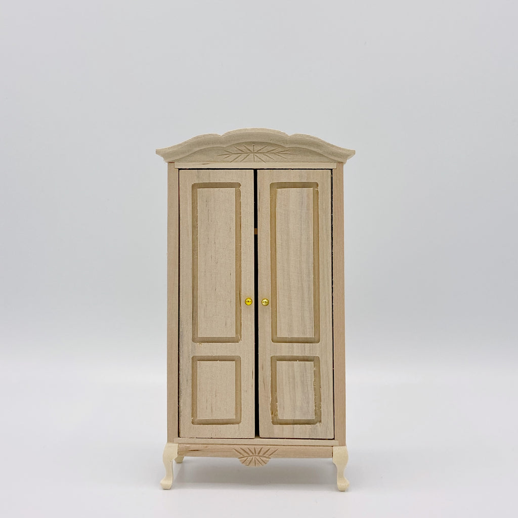 Unfinished Armoire For Dollhouse - Life In A Dollhouse
