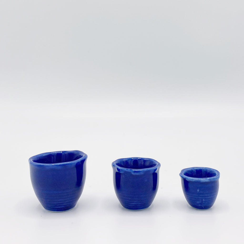 Blue Ceramic Pots for Dollhouse - Life In A Dollhouse