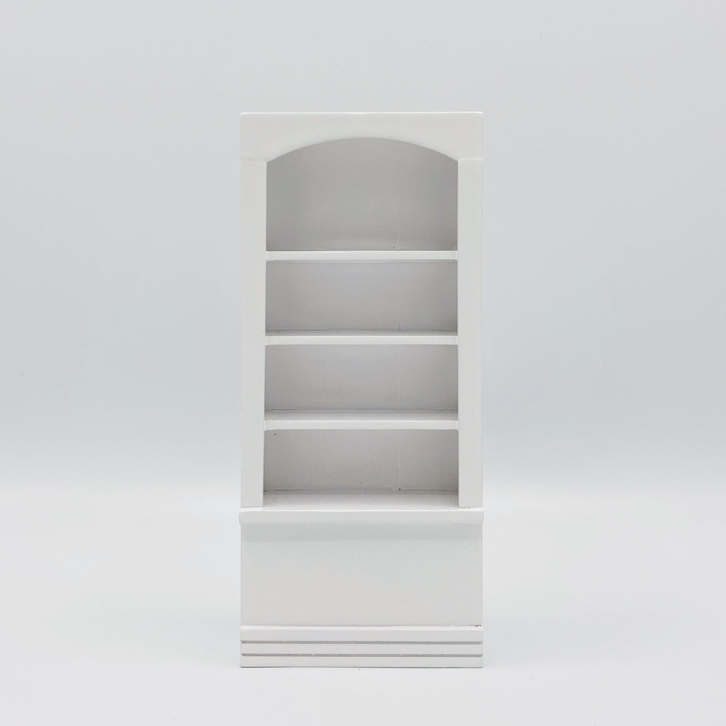 Book Shelf For Dollhouse in White - Life In A Dollhouse