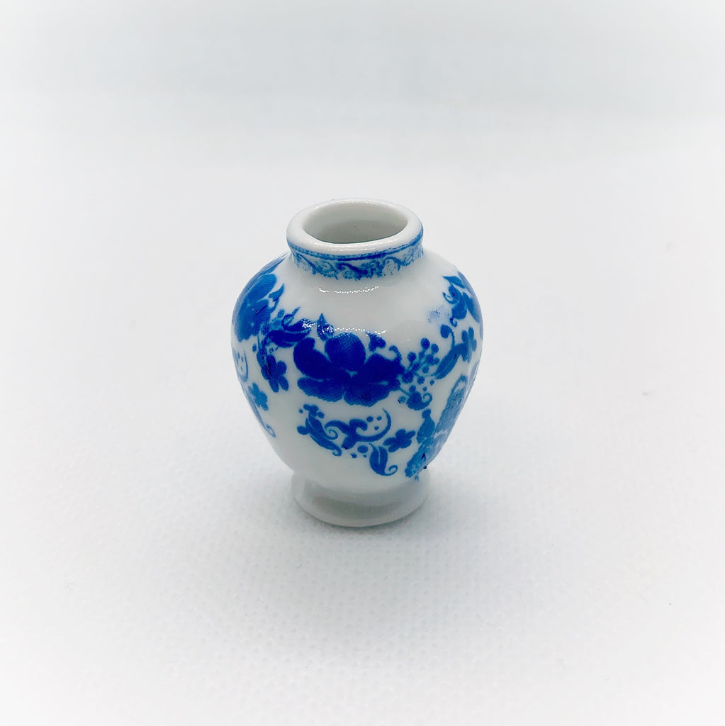 Blue and White Vase - Life In A Dollhouse