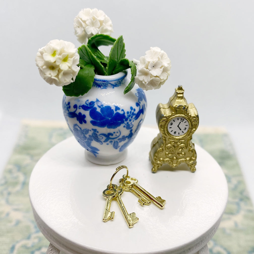 Gold Clock For Dollhouse - Life In A Dollhouse