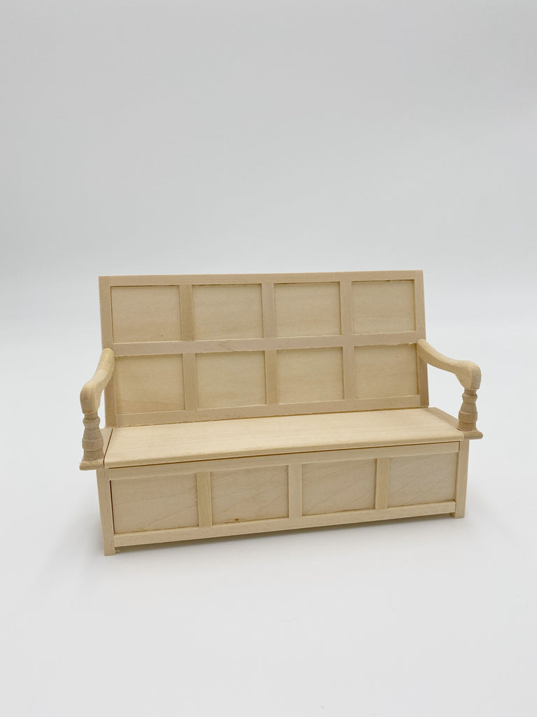 Unfinished Settee For Dollhouse - Life In A Dollhouse