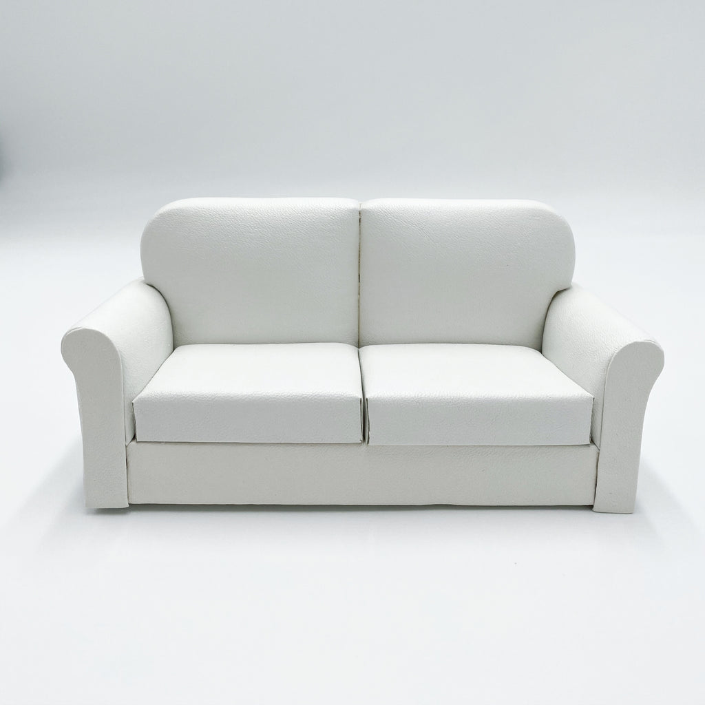 Leather White Couch