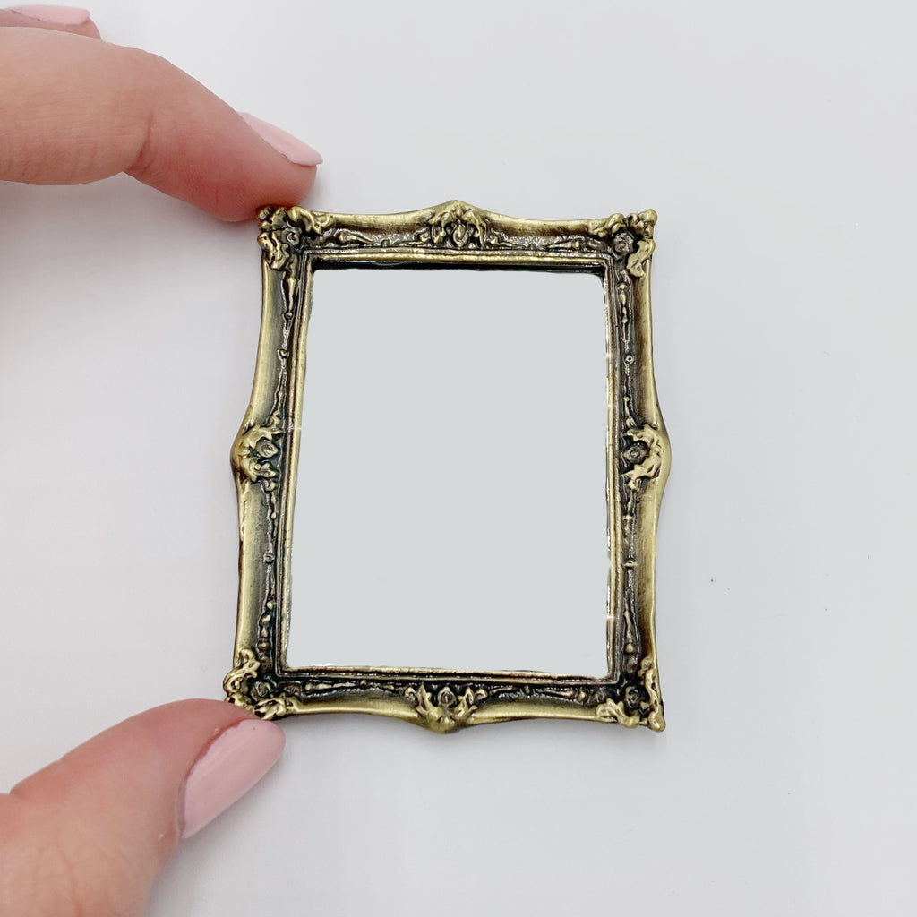 Brass Mirror For Dollhouse - Life In A Dollhouse