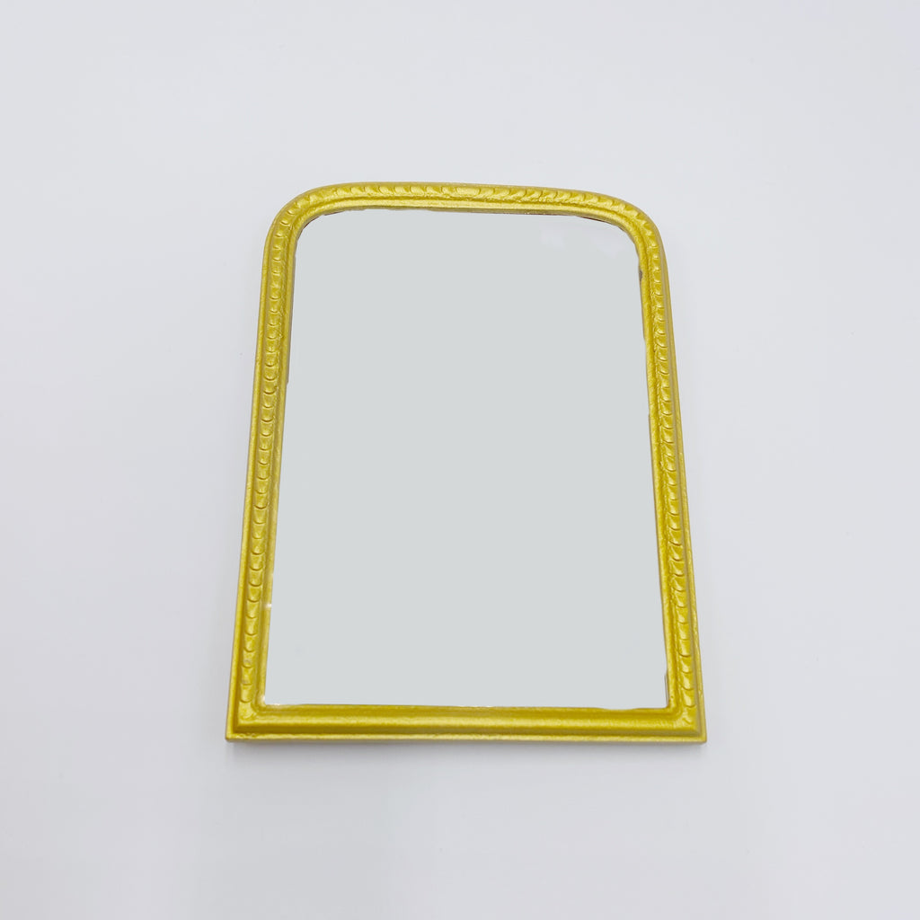 Large Gold Mirror For Dollhouse - Life In A Dollhouse