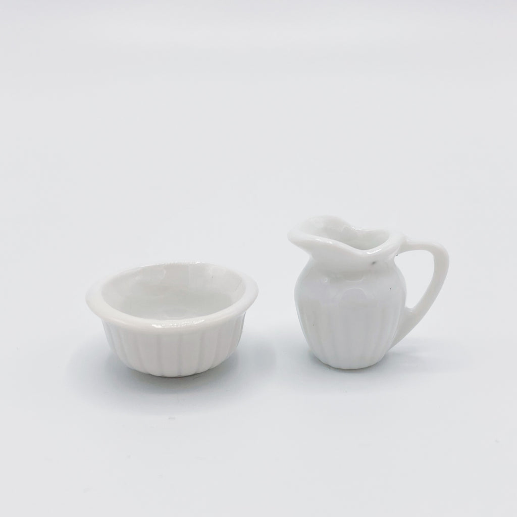 Pitcher and Bowl for Dollhouse - Life In A Dollhouse