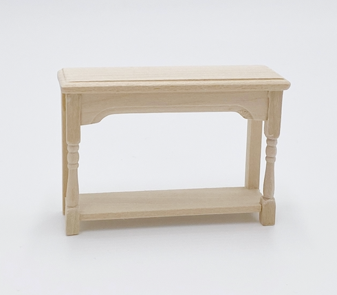 Unfinished Hall Table For Dollhouse - Life In A Dollhouse