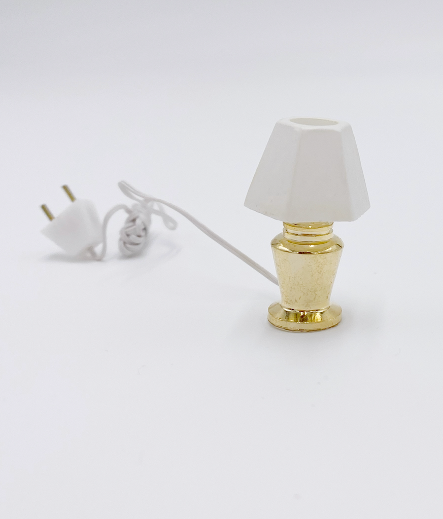 Short Gold Lamp For Dollhouse - Life In A Dollhouse