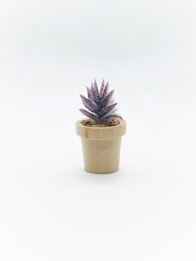 Purple Potted Plant For Dollhouse - Life In A Dollhouse