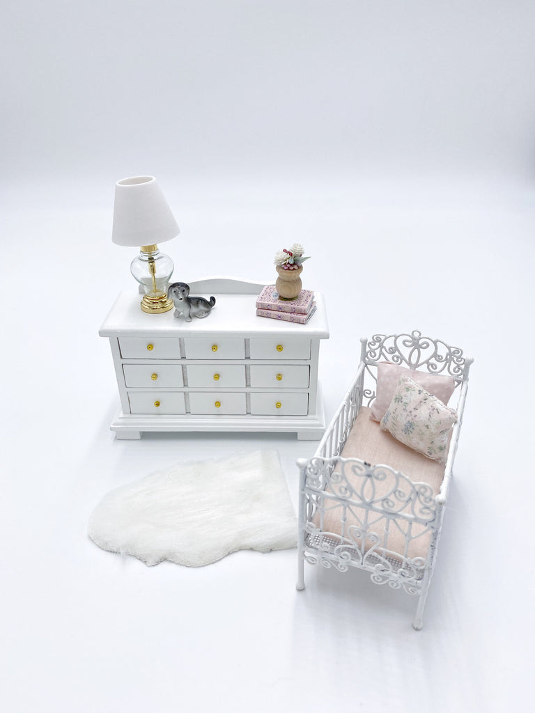 Dresser For Dollhouse, White - Life In A Dollhouse