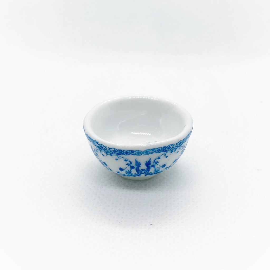 Blue and White Bowl For Dollhouse - Life In A Dollhouse