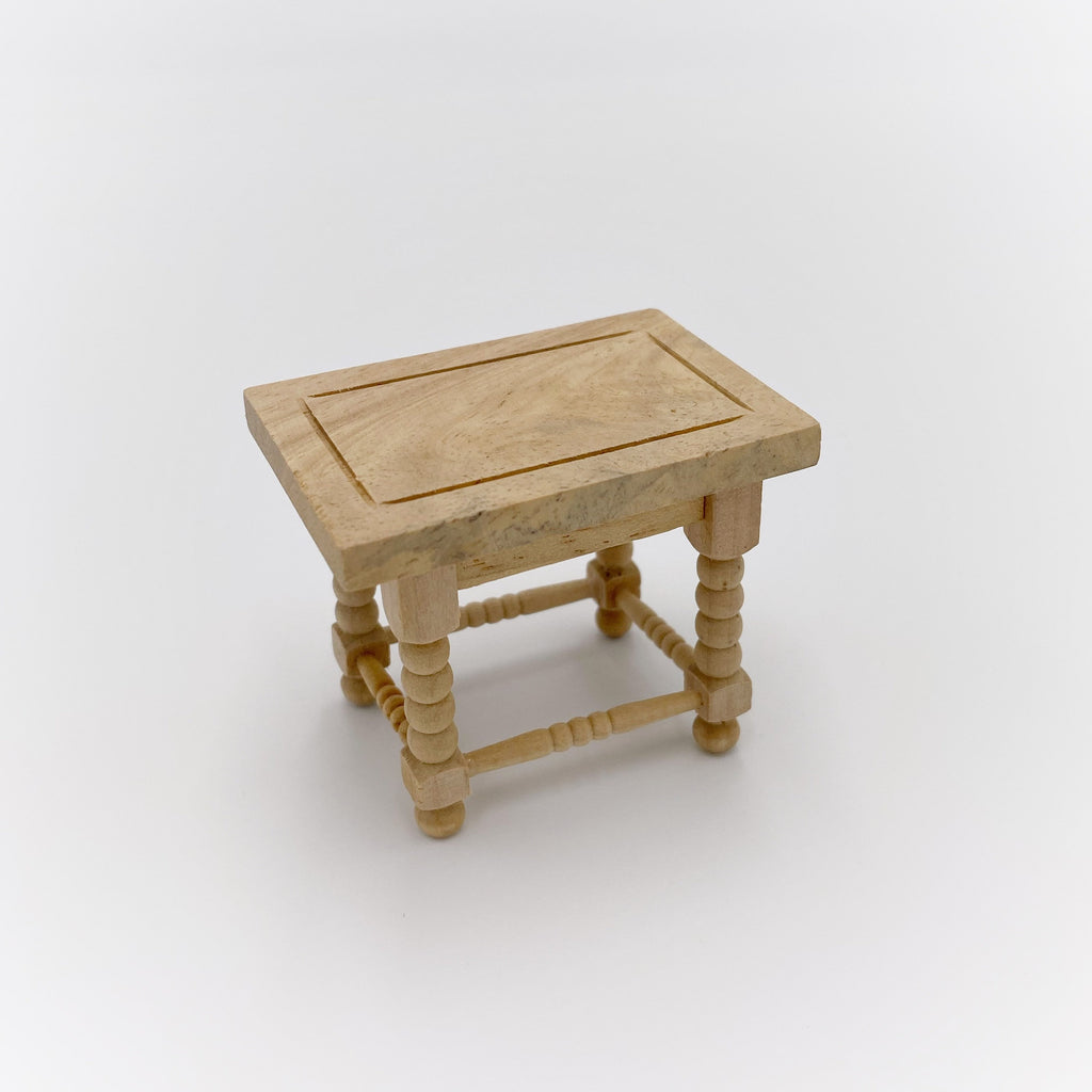 Small Wooden Spool Table For Dollhouse - Life In A Dollhouse