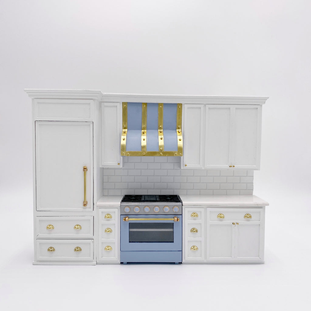 Custom Dollhouse Kitchen with Miniature Refrigerator - 1:12 scale by Life In A Dollhouse - Life In A Dollhouse