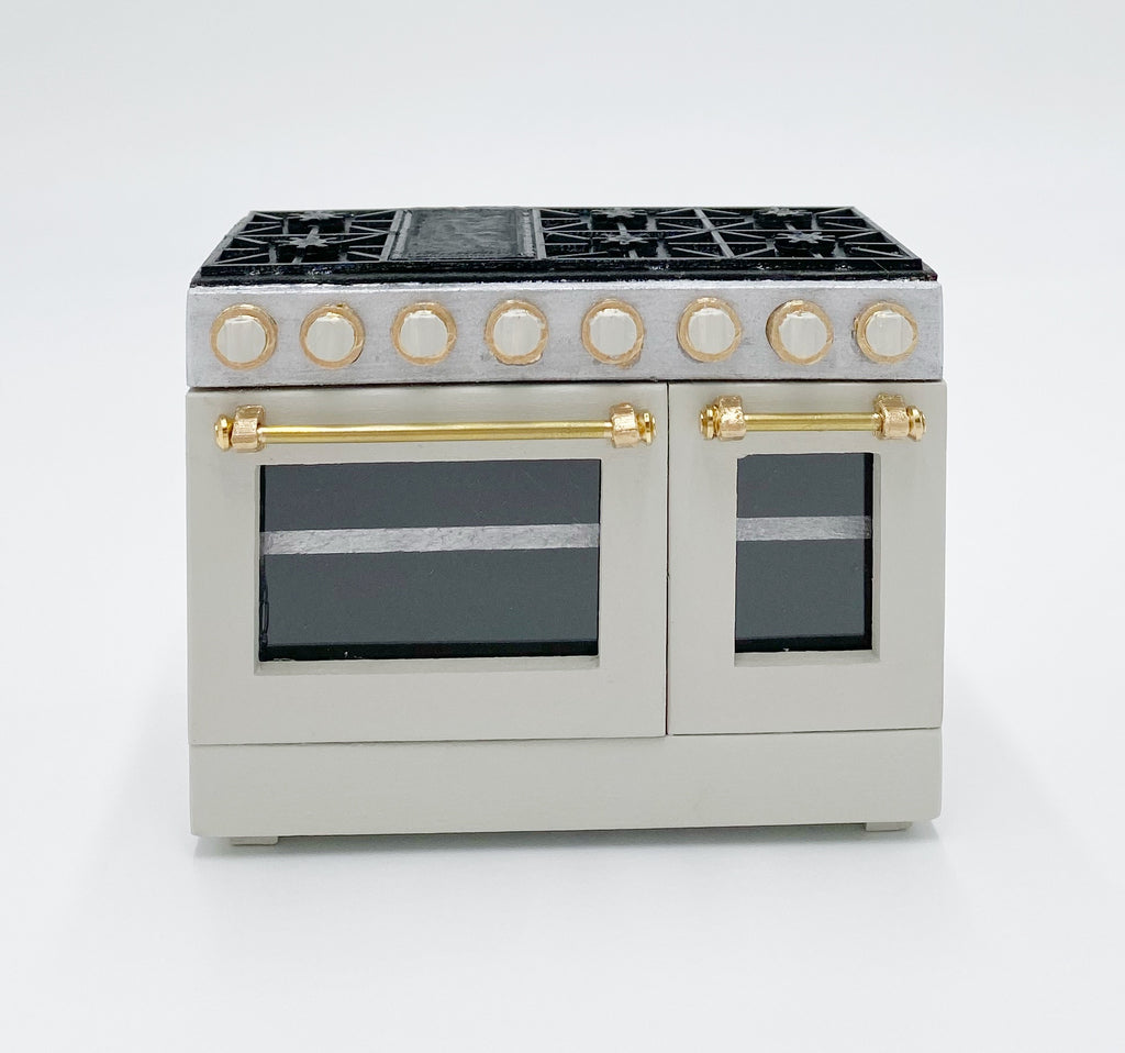 Custom 4'' Dollhouse Range Oven - 1:12 scale by Life In A Dollhouse - Life In A Dollhouse