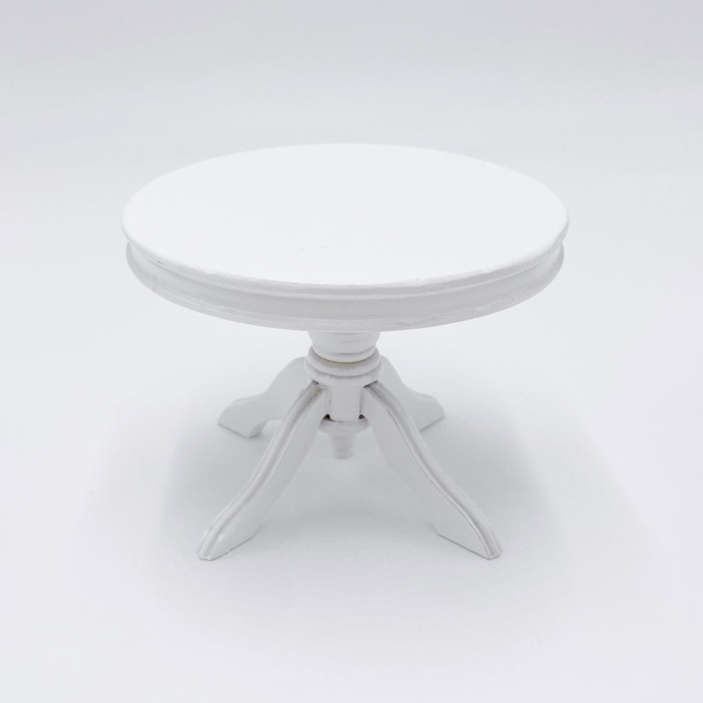 Dining table in White For Dollhouse - Life In A Dollhouse