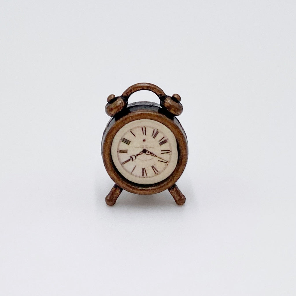 Bronze Clock For Dollhouse - Life In A Dollhouse