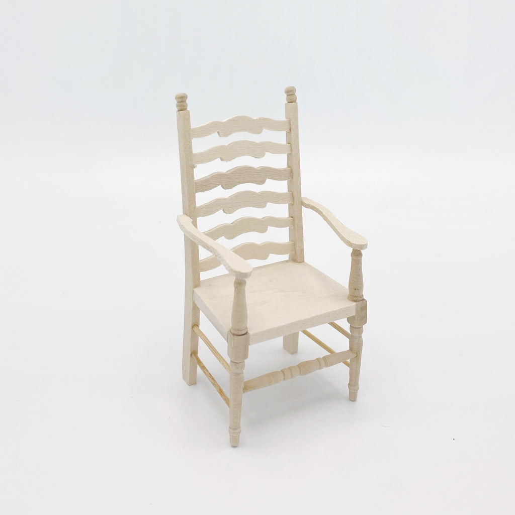 Ladderback Carver Chair For Dollhouse - Life In A Dollhouse