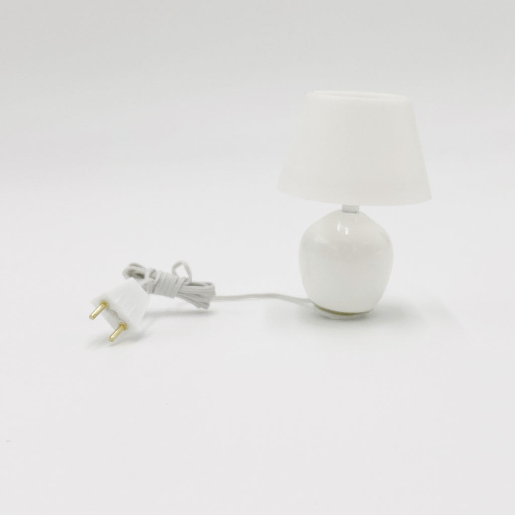 Lamp, Round and White For Dollhouse