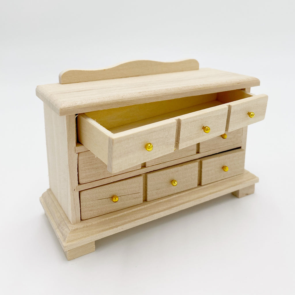 Unfinished Dresser For Dollhouse - Life In A Dollhouse