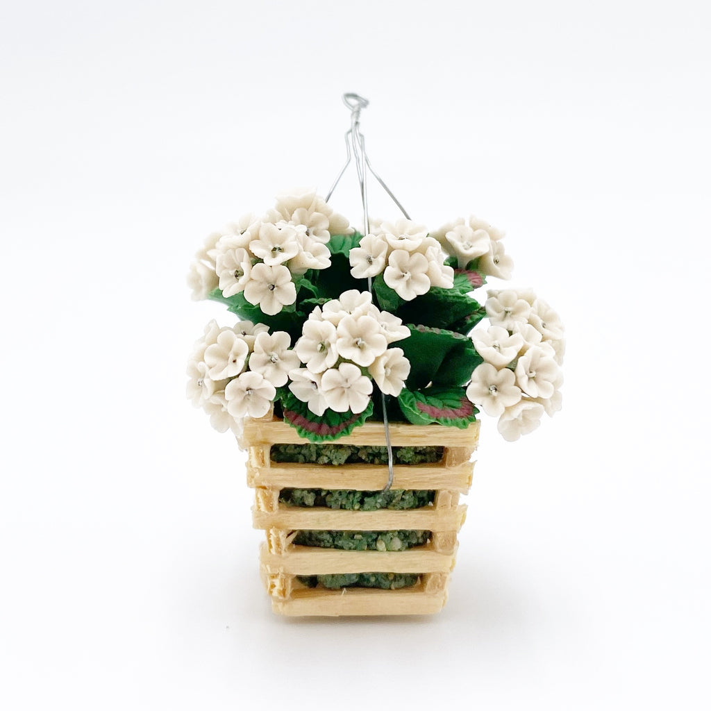 Hanging Hydrangea Basket For Dollhouse - Life In A Dollhouse