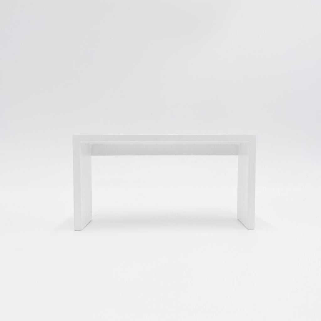 White Console Table For Dollhouse - Life In A Dollhouse