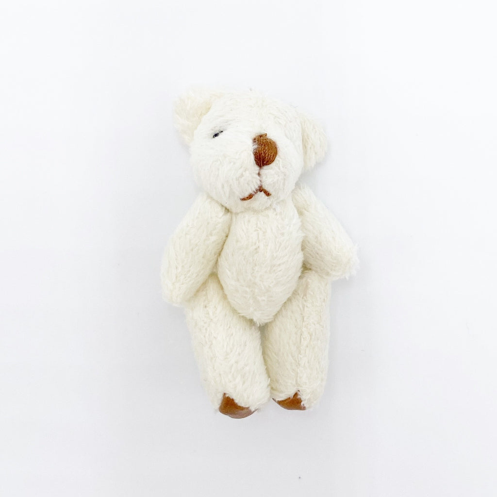 Teddy Bear in White For Dollhouse - Life In A Dollhouse
