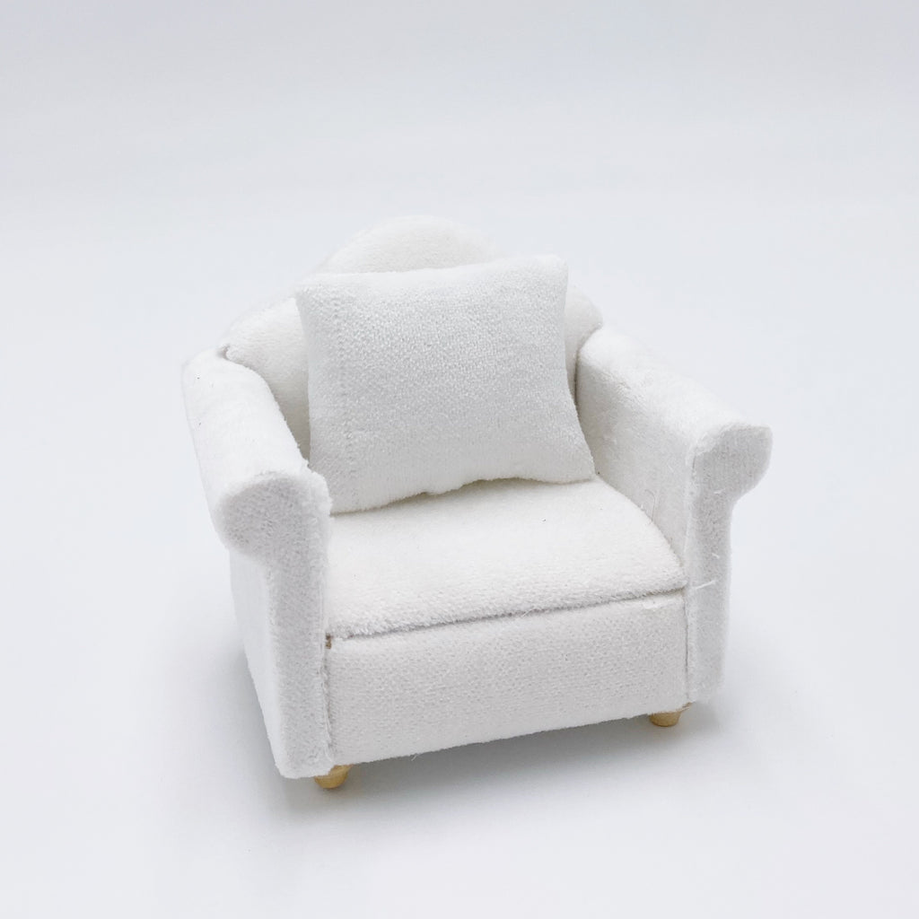 Chair For Dollhouse In White - Life In A Dollhouse
