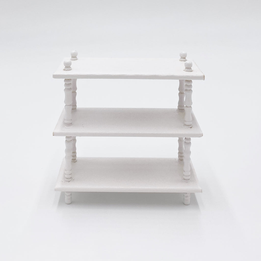 Shelving Unit in White For Dollhouse - Life In A Dollhouse