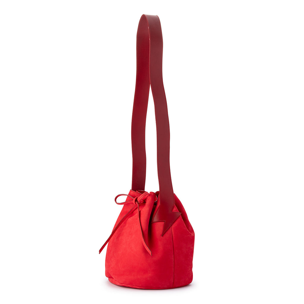Bucket Bag Corallo Red Nubuck