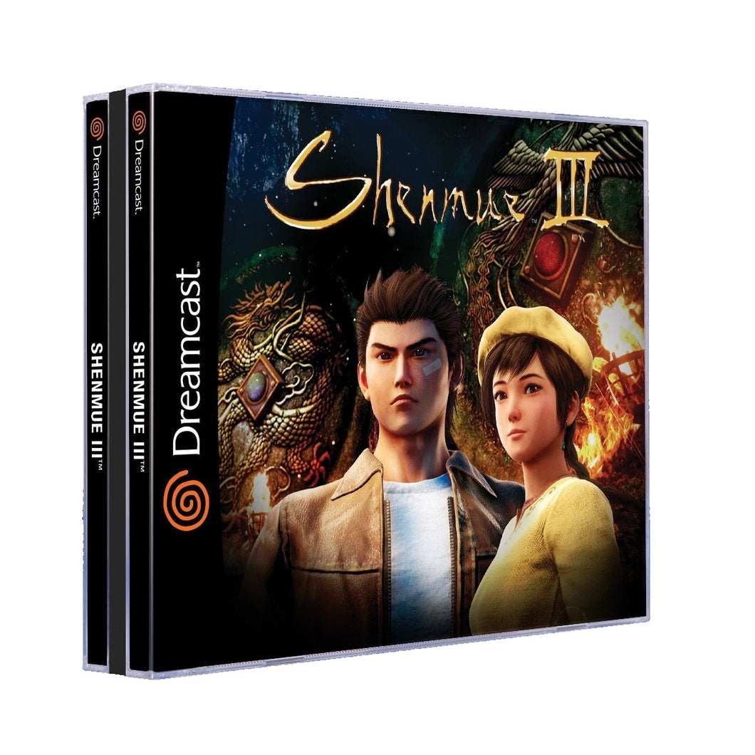 Shenmue 3 Jewel Case Dreamcast Style - NTSC-U Version (No Game)