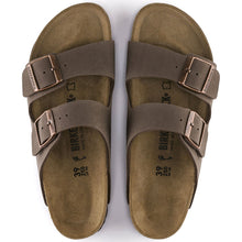 Load image into Gallery viewer, Birkenstock Arizona Birko-Flor Nubuck Mocha Narrow Width