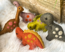Load image into Gallery viewer, Felt Dinosaurs by Papoose - 5 colours to choose