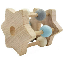 Load image into Gallery viewer, Hess-Spielzeug Rattle Star Natural Blue